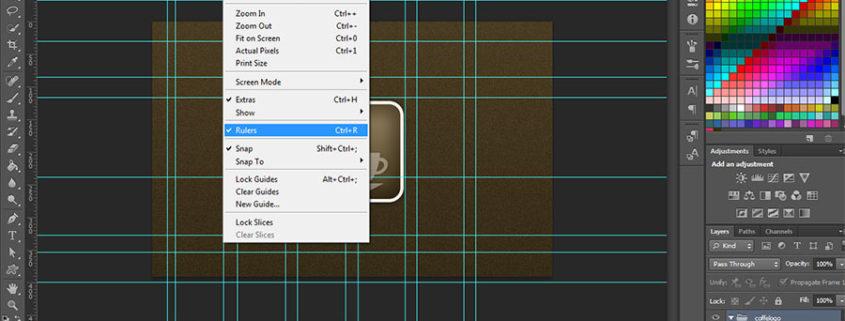 Cómo centrar las guías de Photoshop numéricamente