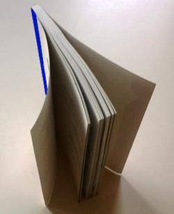 cubierta abierta por fibra del papel