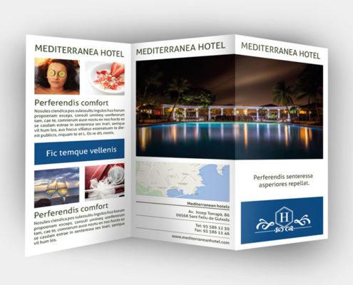 Plantilla de publicidad de Hotel en InDesign