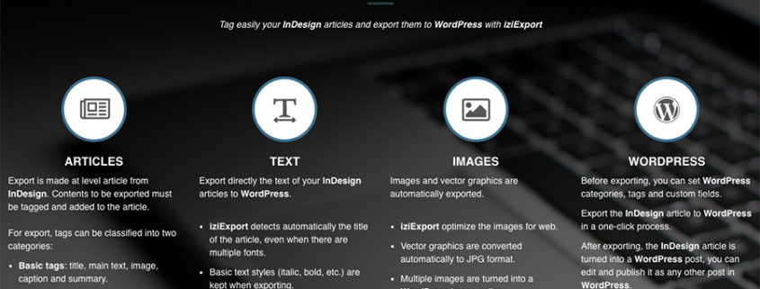 IziExport: Exportar de InDesign a Wordpress en 3 Clicks