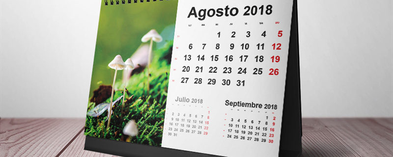 Plantillas Gratis Calendarios de Mesa 2018 para Imprimir