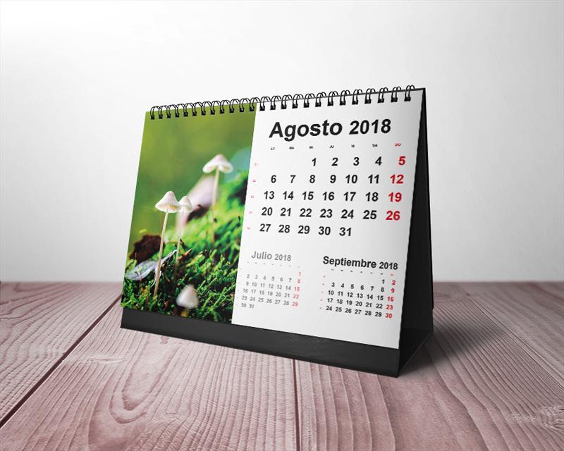 21ee6b9e60a2e Plantillas Gratis Calendarios de Mesa 2018 para Imprimir