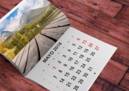 Plantillas Gratis Calendarios Grapados 2018 para Imprimir