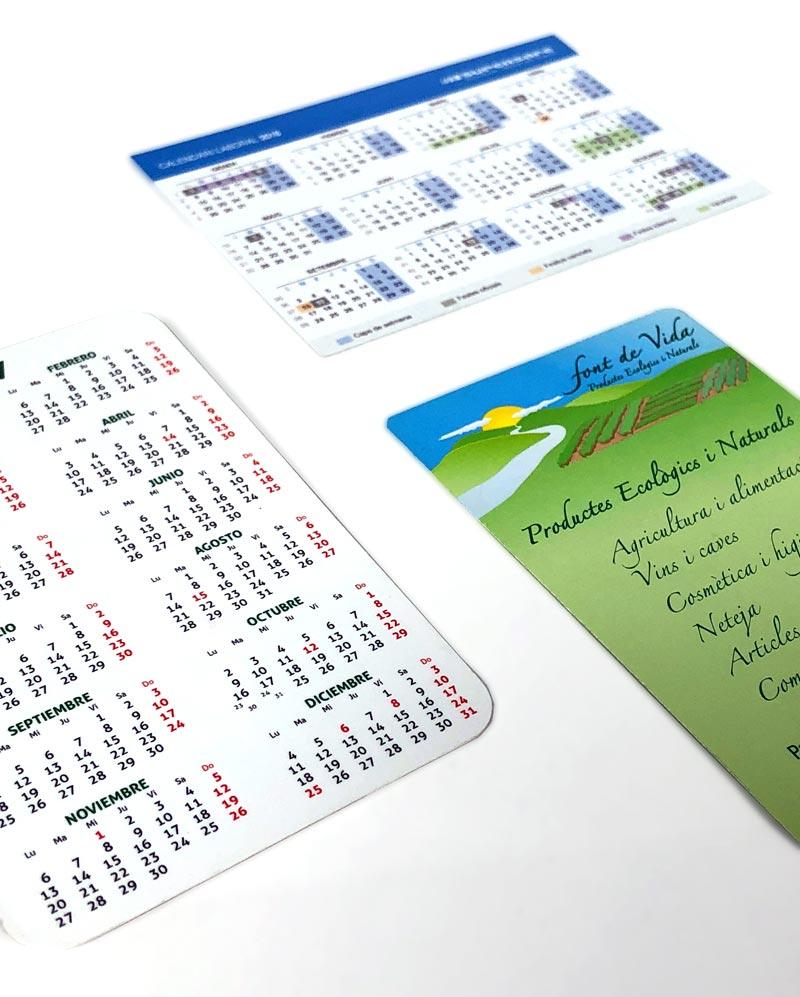 plantilla calendario bolsillo 2019