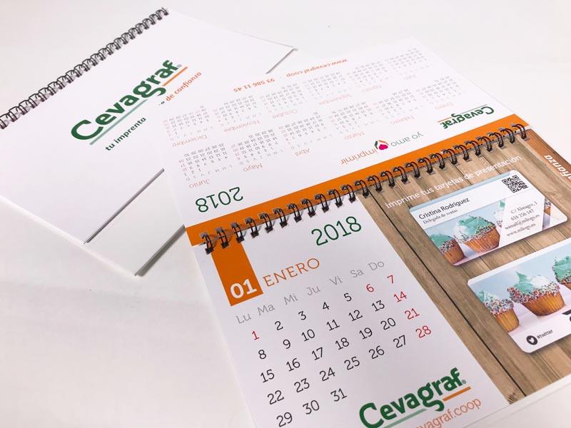 plantilla calendario mesa 2019
