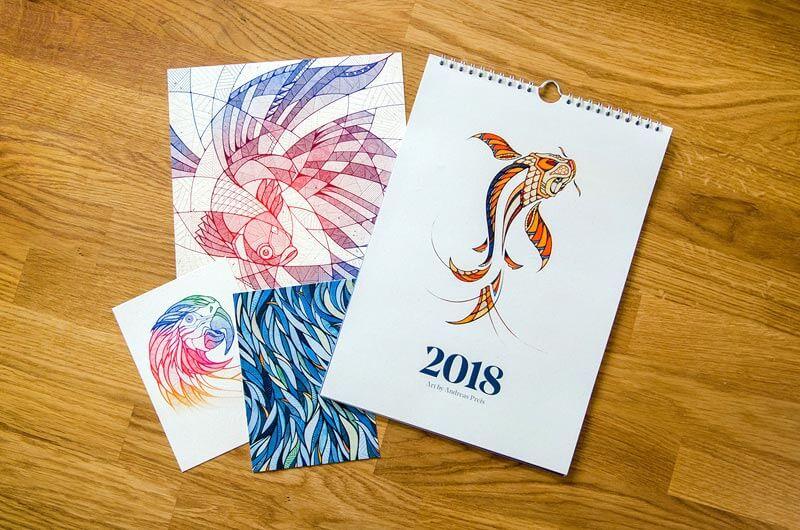 Calendario Ilustrado por Andreas Preis