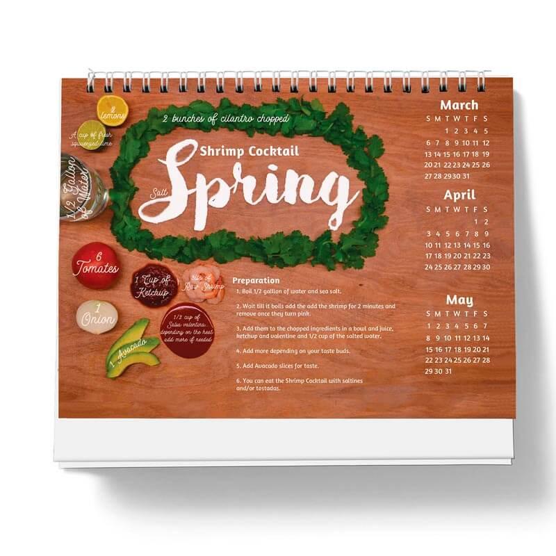 Calendario de Recetas de Temporada por Anais Monroy