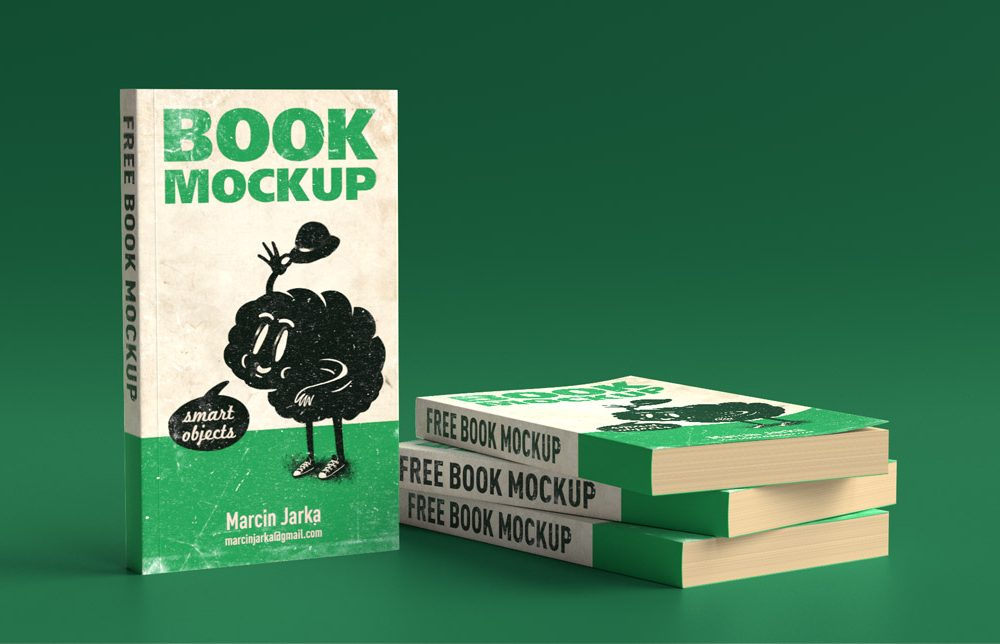 Softcover Books Free Mockup