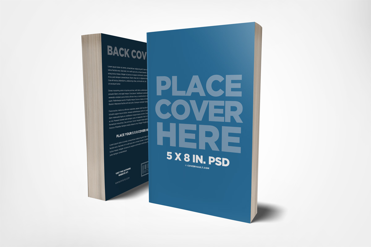 Front & Back Cover Book Mockup