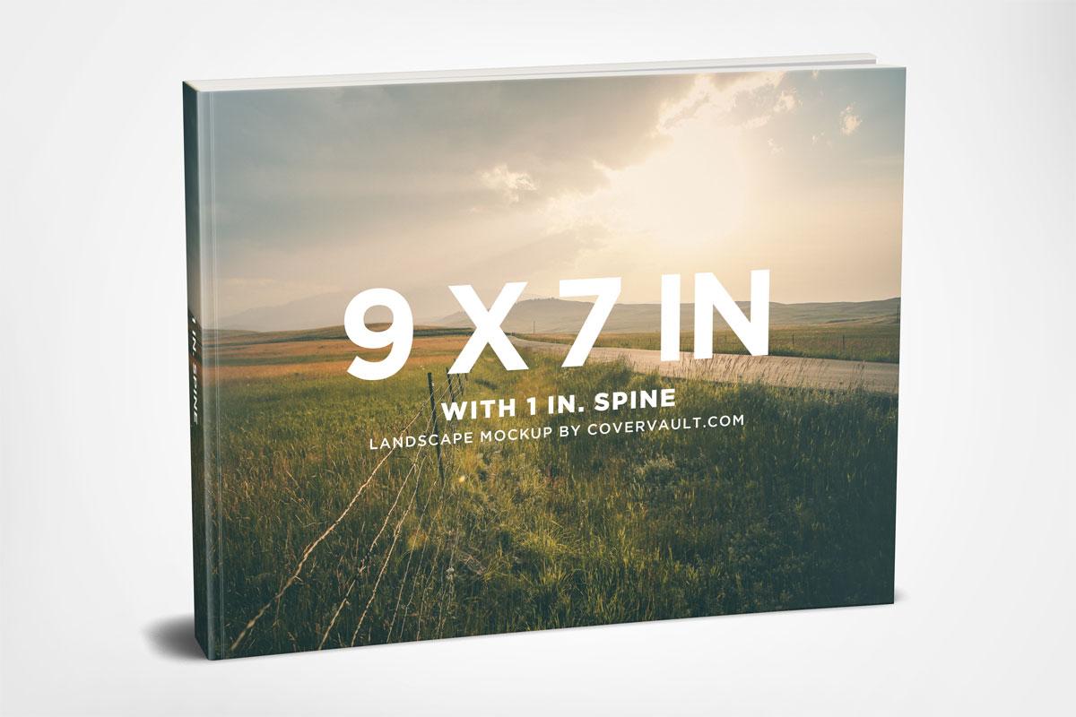 9 x 7 Landscape Paperback Book - Mockup gratuito