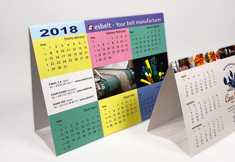 calendarios personalizados de mesa sencillos