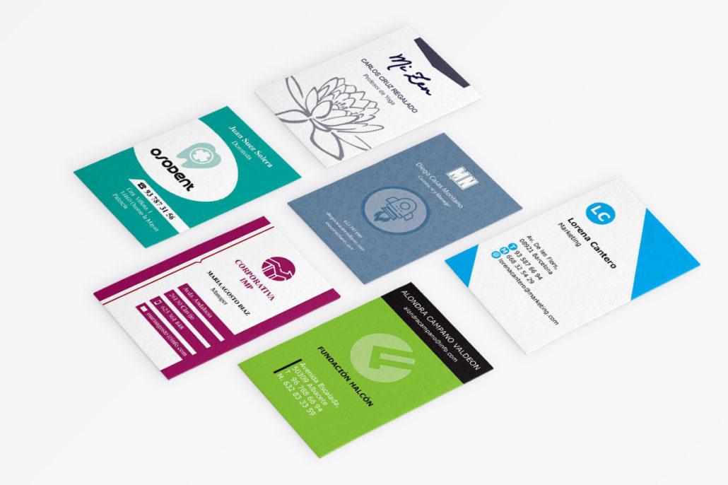Pack de 6 plantillas de tarjetas de visita para Illustrator