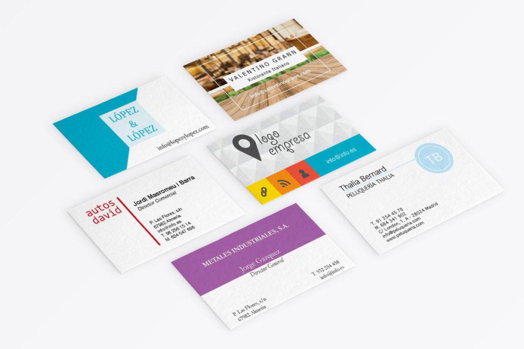 Pack de 6 plantillas de tarjetas de visita para InDesign