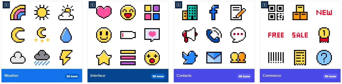 Iconos pixel
