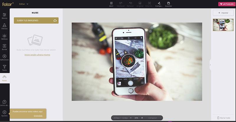 Fotor es más un mejorador de fotos que una herramienta de edición manual completa