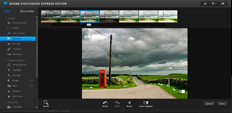 Adobe Photoshop Express Editor es un placer de utilizar