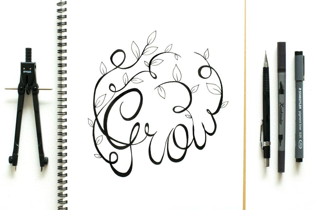 ejemplo lettering