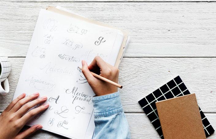 Lettering o rotulación manual. Qué es y usos