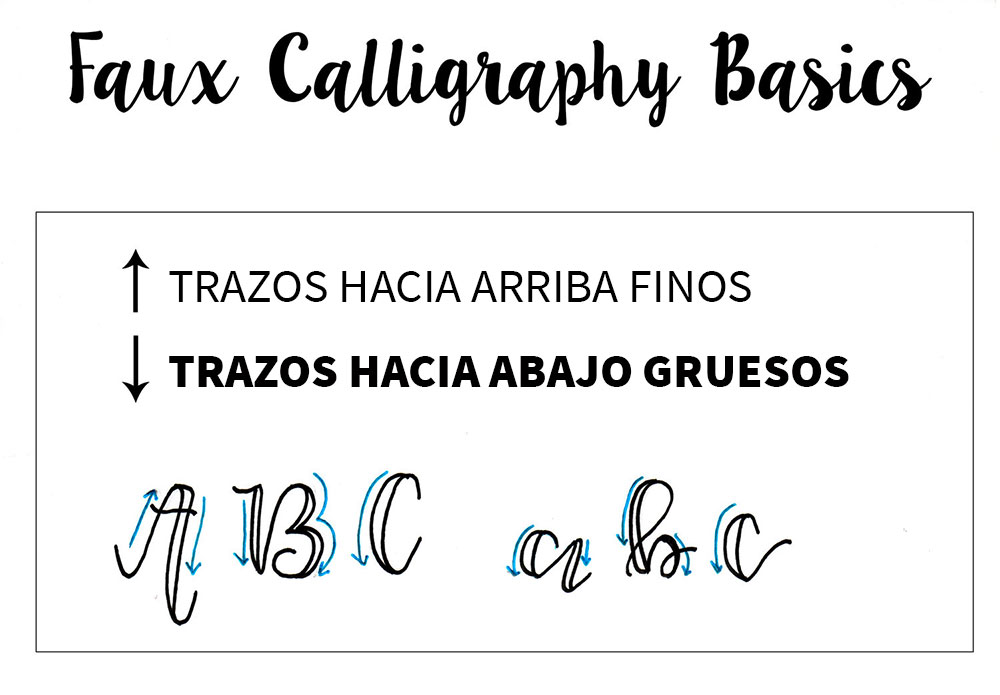tipos trazos lettering