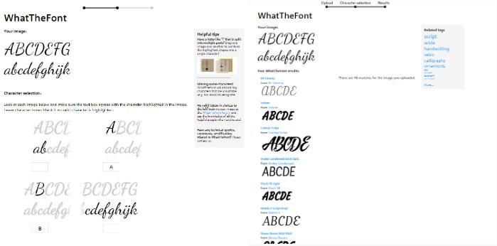 whatthefont script