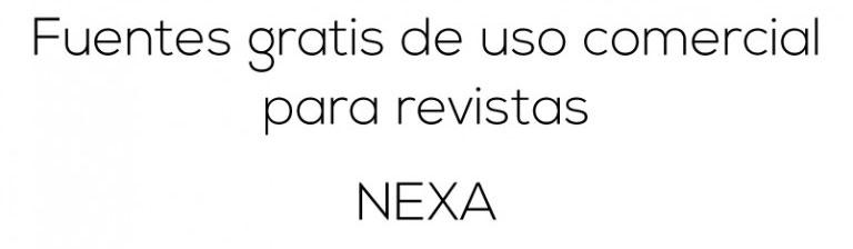 fuentes gratis nexa