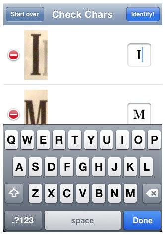 identificar fuente con What the font App