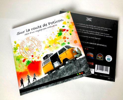 """libro de viajes """"Sur la route de Potiron, récit d'un voyage pas ordinaire""""."""