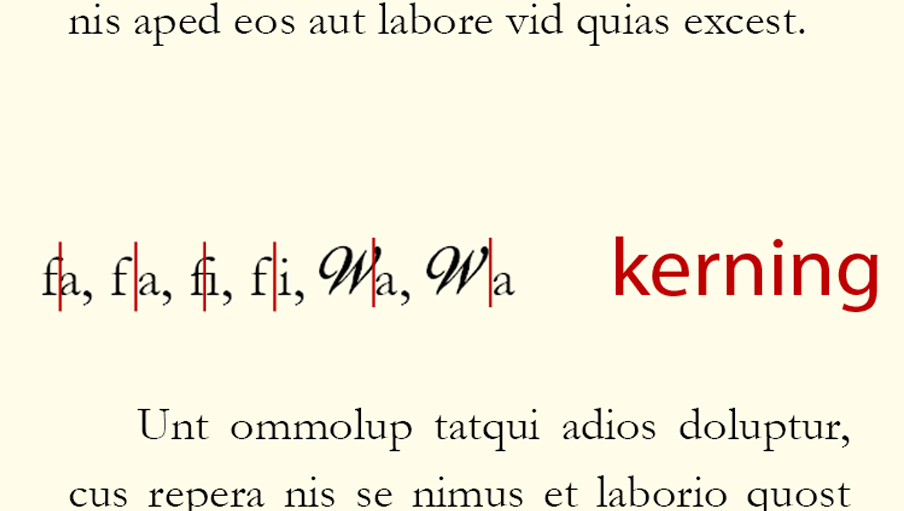 Kerning en Indesign