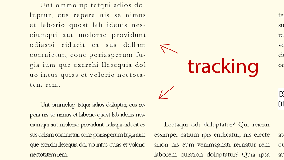 tracking en InDesign