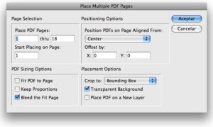 Importar PDF multipágina