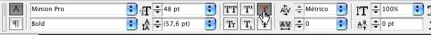 herramienta de texto en InDesign