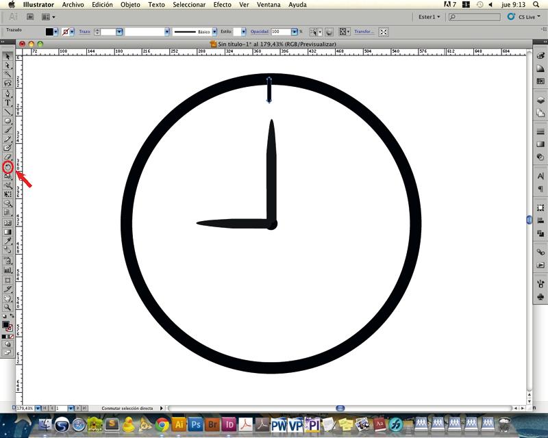 dibujar reloj illustrator