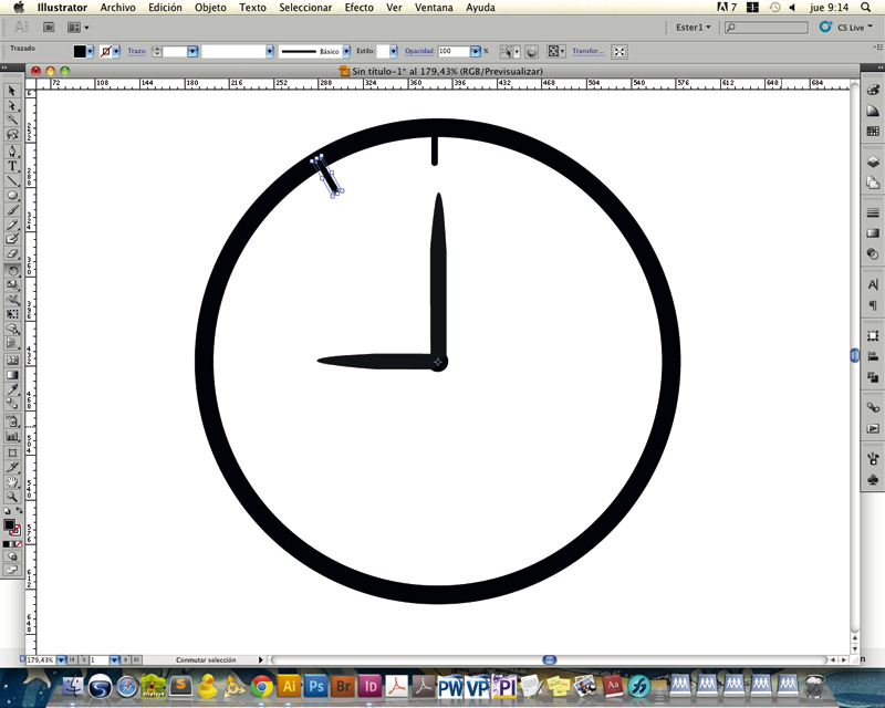 dibujar circulo illustrator