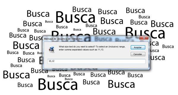 script buscar textos illustrator