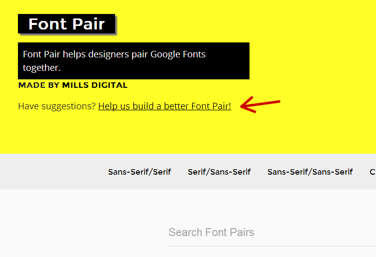 Google Fonts & Font Pair