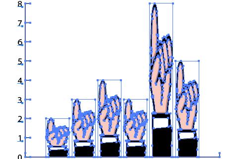 crear gráficos de barras en Illustrator