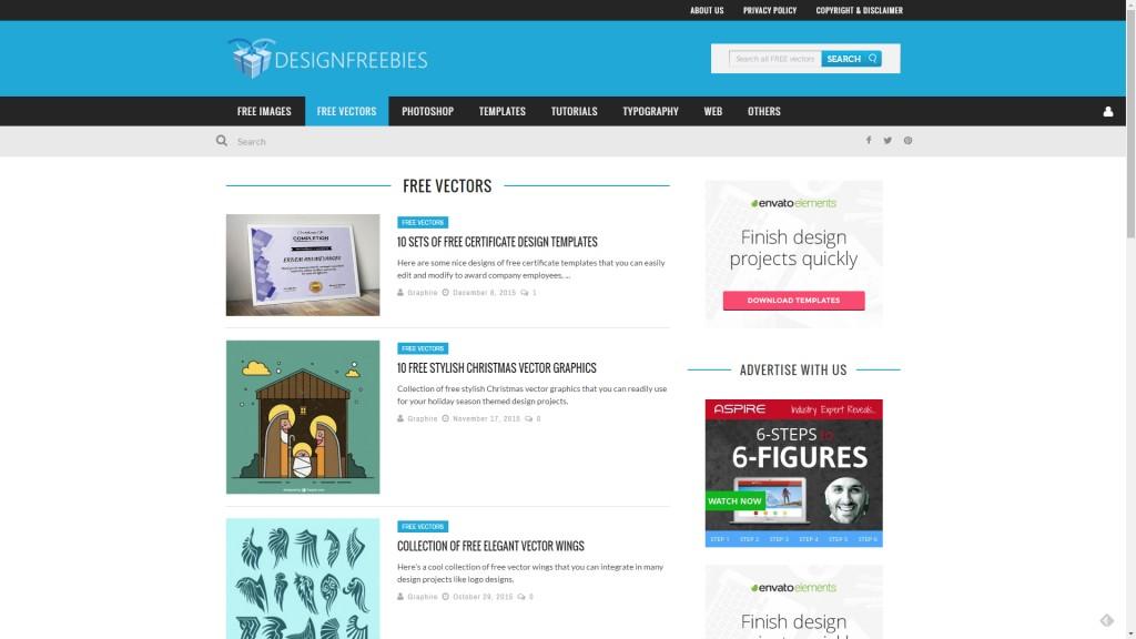Design Freebies - recursos gráficos vectoriales