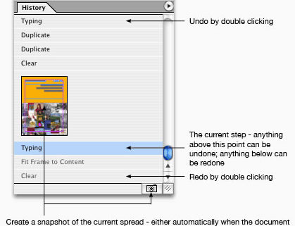 easy history indesign