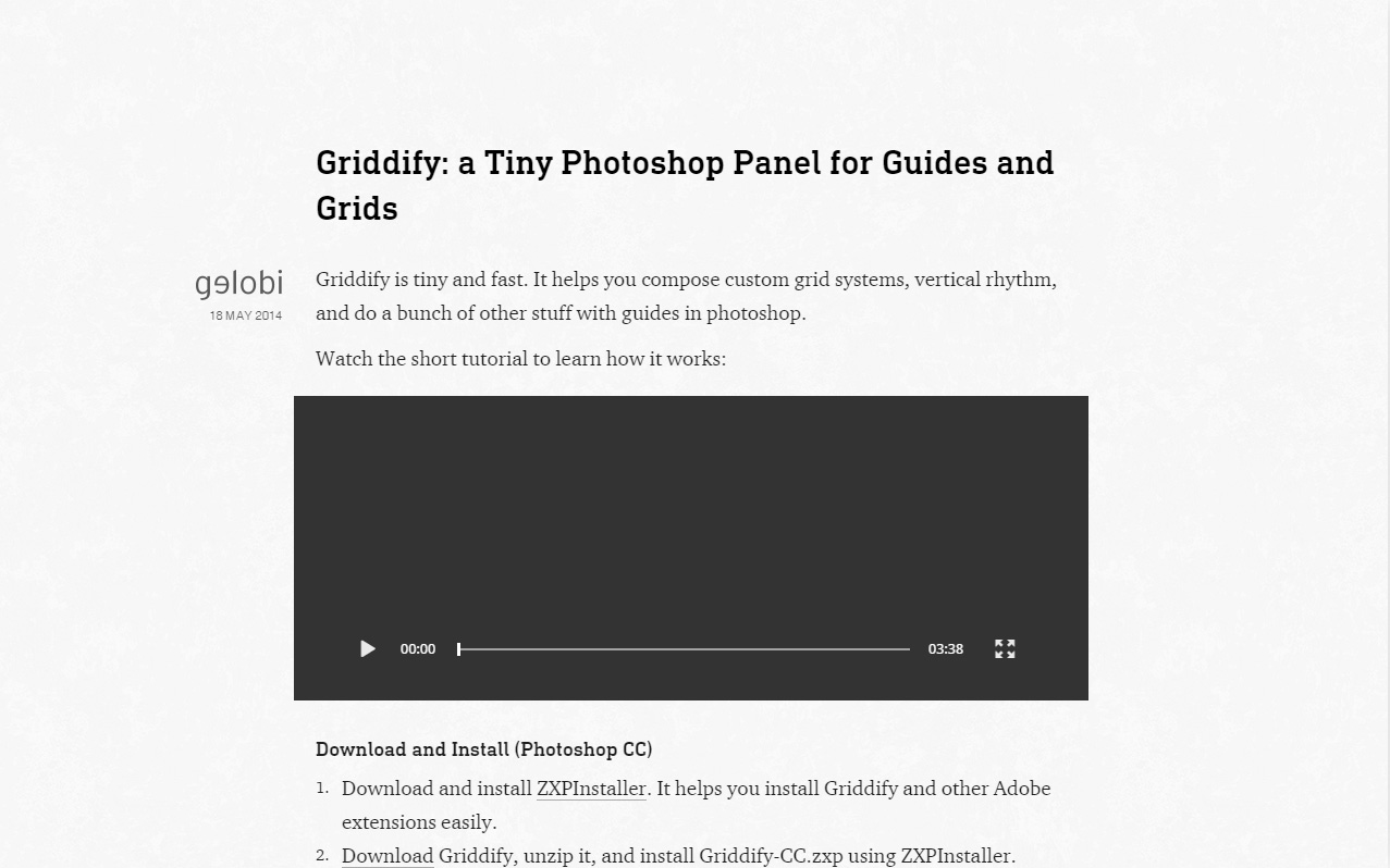 plugin para photoshop Griddify