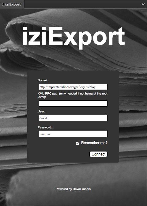 iziexport wordpress indesign script