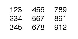 tabulaciones con números