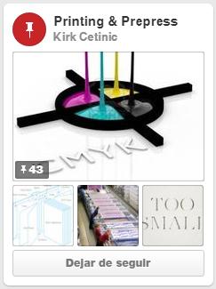 "Tablero de pinterest ""Printing & Prepress"" de Kirk Cetinic"
