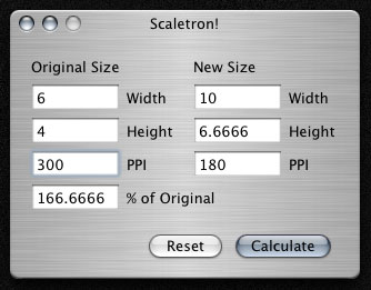 Scaletron: Calculadora de resoluciones y porcentajes