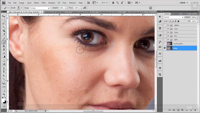 separación de frecuencias photoshop