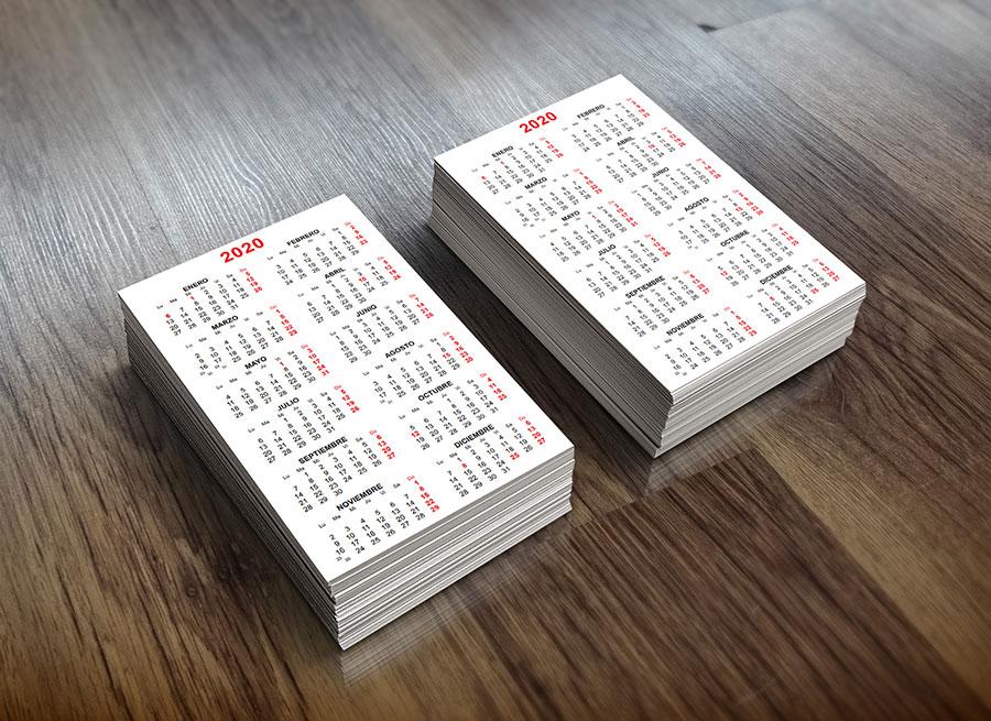 plantillas de calendarios de bolsillo