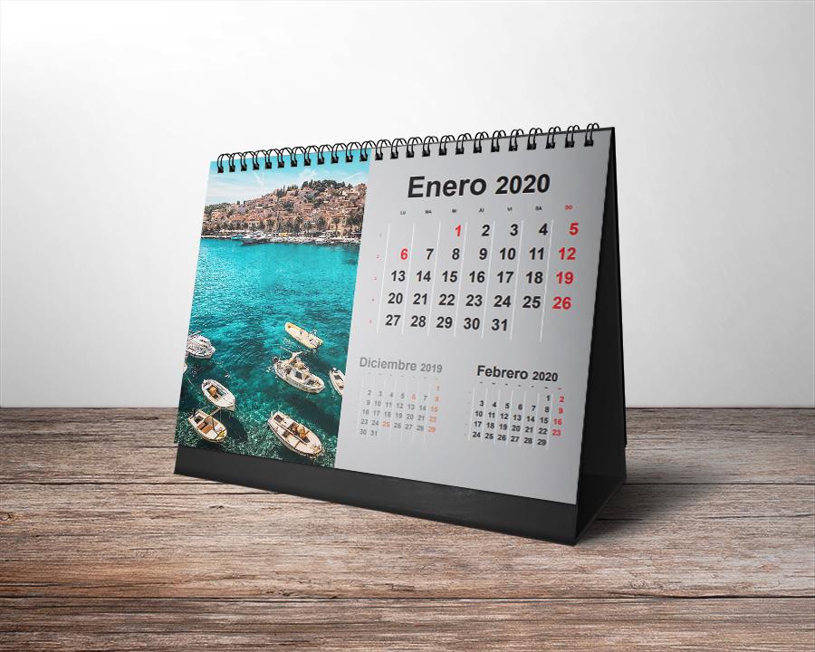 plantillas de calendarios 2020 (mesa)