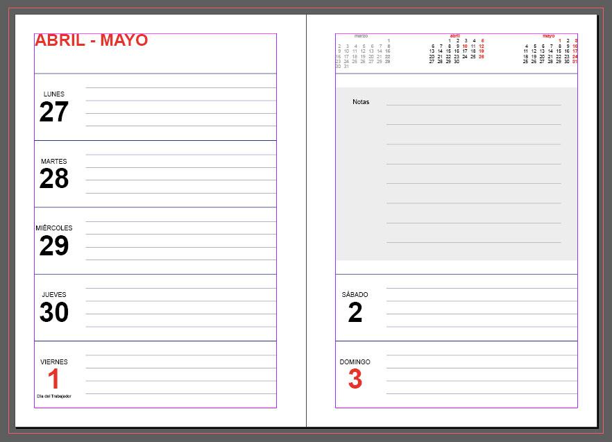 Calendario Diario Para Imprimir 2019.Agendas 2020 Plantillas Indesign Gratis Para Imprimir