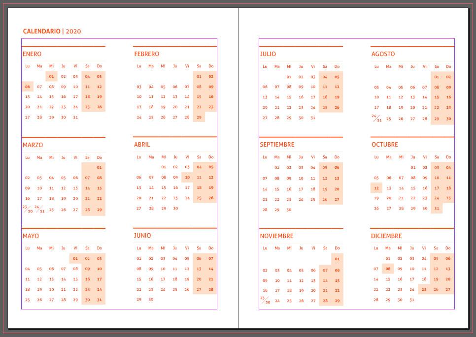 Calendario Agenda 2020 Para Imprimir.Agendas 2020 Plantillas Indesign Gratis Para Imprimir