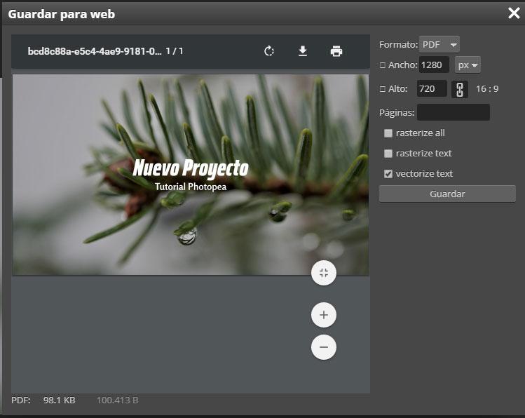proyecto web photopea