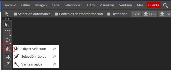 herramientas editor